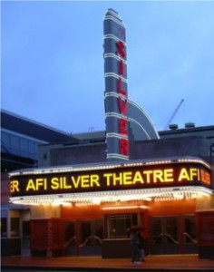 AFI Theater at night, Silver Spring, MD