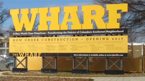 1336 4th St, SW #T1336 Washington, DC 20024, SW DC Potomac River, wharf development sign