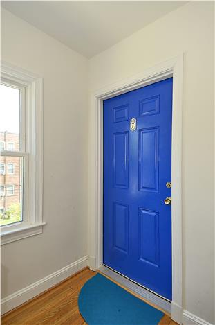 1400 Oglethorpe St, NW, Apt 7, Washington, DC 20011, blue entry door