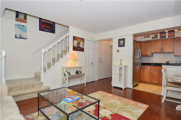 3821 Porter St, NW Washington, DC 20016, living stairs
