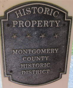 Historic property plaque