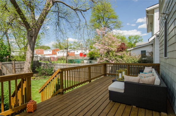 725 Fern Pl., NW, Washington, DC 20012, back deck