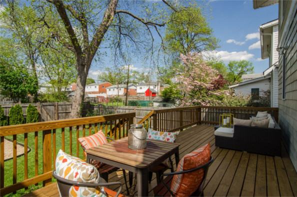 725 Fern Pl., NW, Washington, DC 20012, back deck and table