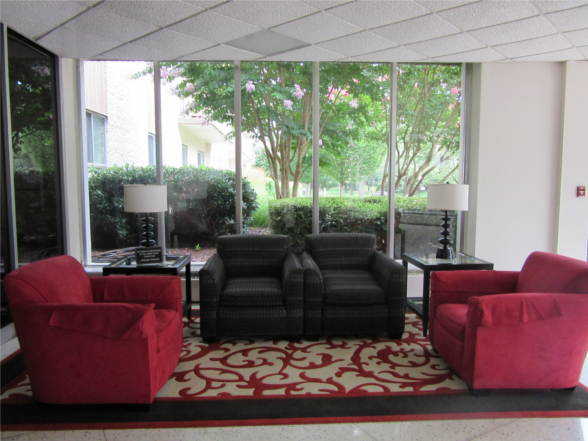 7501 Democracy Blvd, Unit: B-12, Bethesda, MD 20817, Exterior (Front), Lakeside lobby,