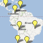 Map of Alice's International Clients