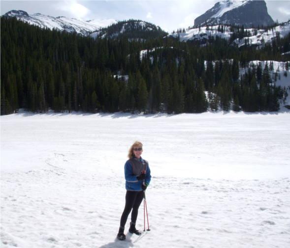 Alice McKenna on snowfield in Colorado.