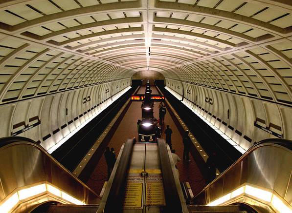Columbia Heights Metro station interior.