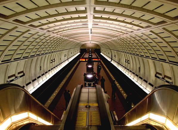 Columbia Heights Metro station interior.