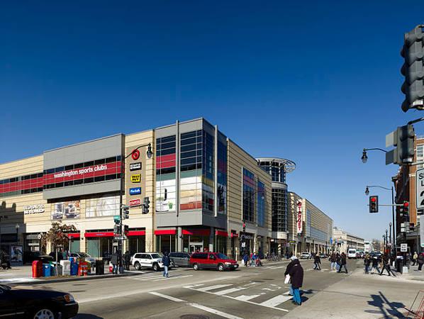 Exterior of DCUSA shopping center in Columbia Heights, Washington, DC
