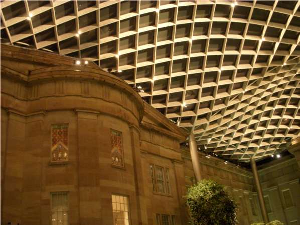National Portrait Gallery courtyard ceiling