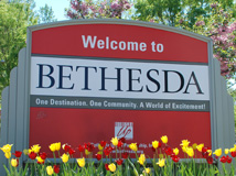 Welcome to Bethesda sign