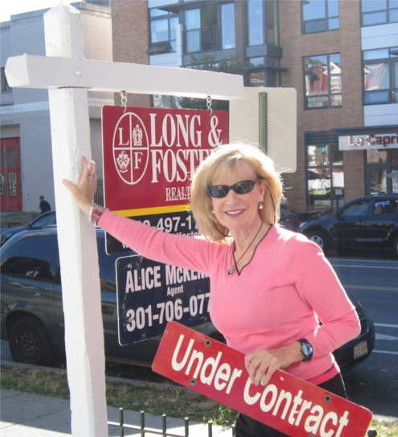 Alice with under contract sign