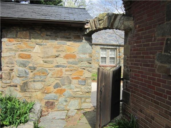 Tudor stone archway.