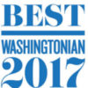 Washingtonian Best 2017 badge,