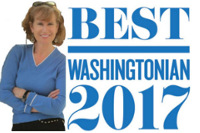 Washingtonian Best Realtors 2017 badge, Alice McKenna